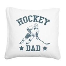 Hockey Dad Square Canvas Pillow