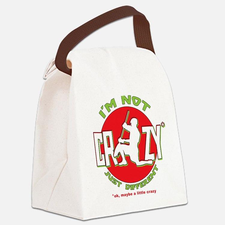 Im Not Crazy (lacrosse) Canvas Lunch Bag