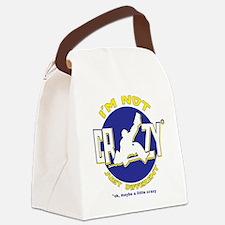Crazy Hockey Goalie Canvas Lunch Bag