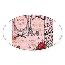 Vintage Pink Paris Collage Decal