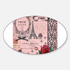 Vintage Pink Paris Collage Decal