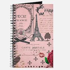 Vintage Pink Paris Collage Journal