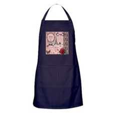 Vintage Pink Paris Collage Apron (dark)