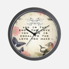 Vintage_Chick Love You Make Wall Clock