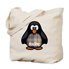 MacRae Tartan Penguin Tote Bag