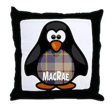 MacRae Tartan Penguin Throw Pillow