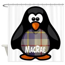 MacRae Tartan Penguin Shower Curtain