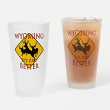 Wyoming is better Drinking Glass