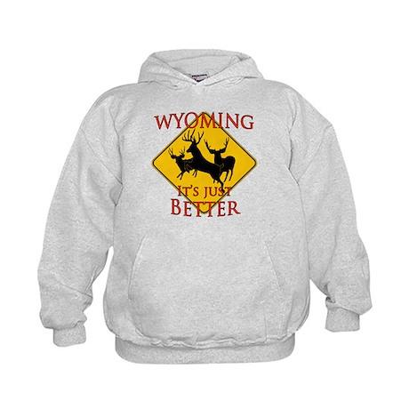 Wyoming is better Kids Hoodie