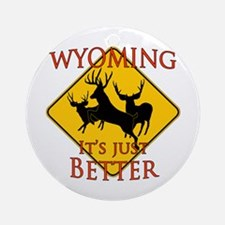 Wyoming is better Ornament (Round)