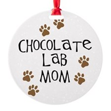 chocolate lab mom.png Ornament