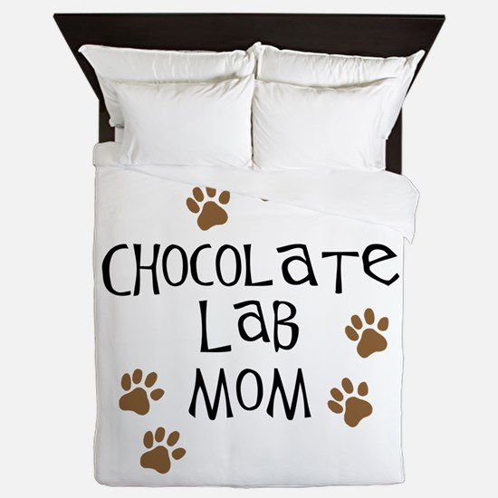 chocolate lab mom.png Queen Duvet