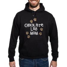 chocolate lab mom wh.png Hoodie