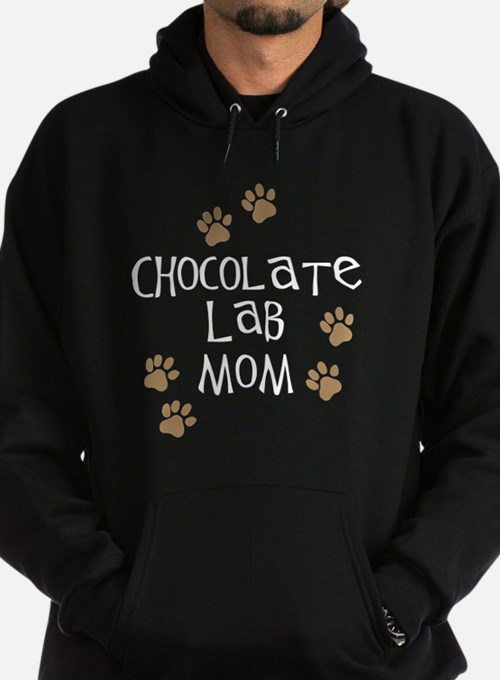 chocolate lab mom wh.png Hoodie