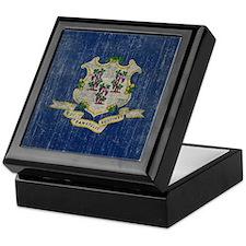 Vintage Connecticut Keepsake Box