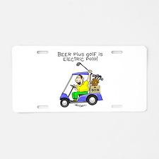 Electric Polo Aluminum License Plate