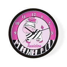 Pink Zebra Wall Clock - Anniston
