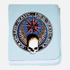 pentagram devil rock skull baby blanket