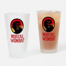Mortal Wombat Drinking Glass