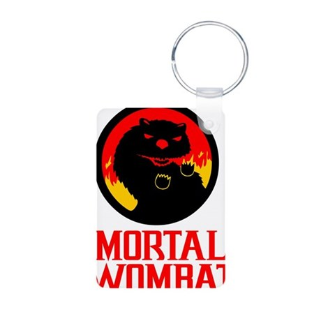 Mortal Wombat Aluminum Photo Keychain
