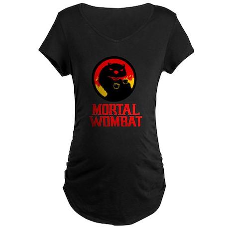 Mortal Wombat Maternity Dark T-Shirt