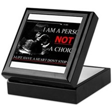 Pro-Life Have A Heart Don't Stop one Keepsake Box