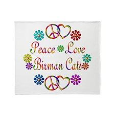 Birman Cats Throw Blanket