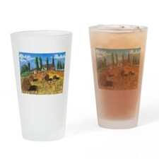 italy scene Drinking Glass