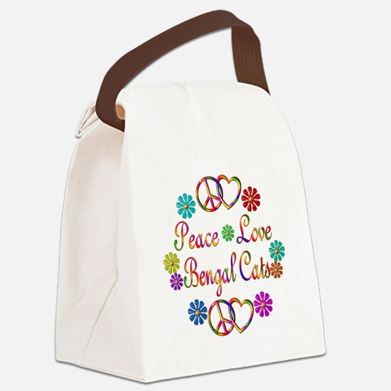 Bengal Cats Canvas Lunch Bag