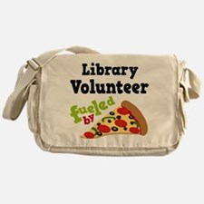 Library Volunteer Fueled By Pizza Messenger Bag