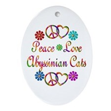 Abyssinian Cats Ornament (Oval)