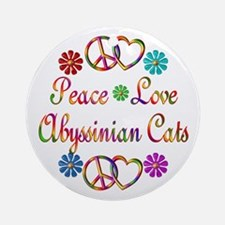 Abyssinian Cats Ornament (Round)