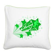 Future Hockey Star Square Canvas Pillow