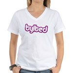 Women's V-Neck Tylted T-Shirt