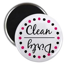 Dishwasher Magnet - Pink and Black Magnet