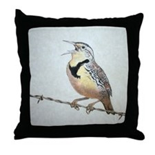 Meadowlark Throw Pillow