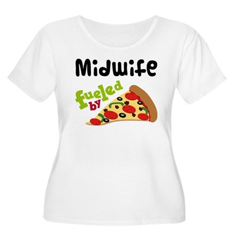 Midwife Fueled By Pizza Women's Plus Size Scoop Ne
