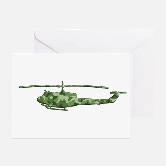 Huey Helicopter Greeting Card