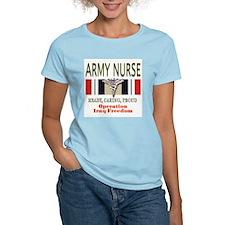 Army Nurse Women's Pink T-Shirt