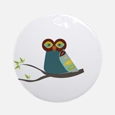 Mid Century Modern Owl Ornament (Round)
