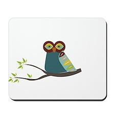 Mid Century Modern Owl Mousepad