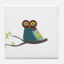 Mid Century Modern Owl Tile Coaster