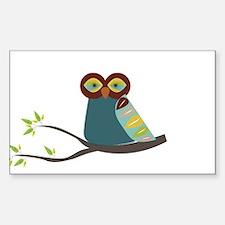 Mid Century Modern Owl Decal