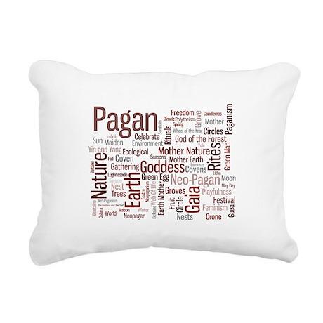 Pagan Words Rectangular Canvas Pillow