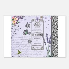 Girly Purple Vintage Collage Postcards (Package of