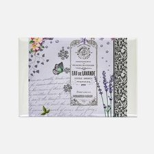 Girly Purple Vintage Collage Rectangle Magnet (10