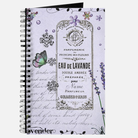 Girly Purple Vintage Collage Journal