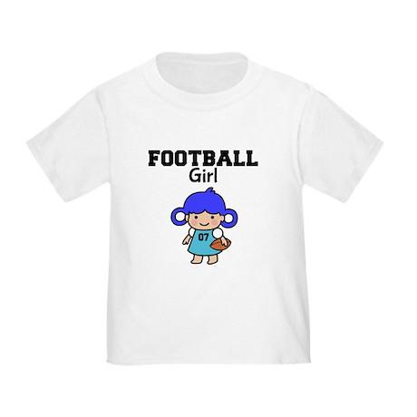 Football Girl Toddler T-Shirt