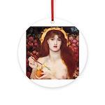 Rossetti Venus Verticordia Ornament (Round)