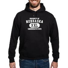 Property of Nebraska the Cornhuskers State Hoodie